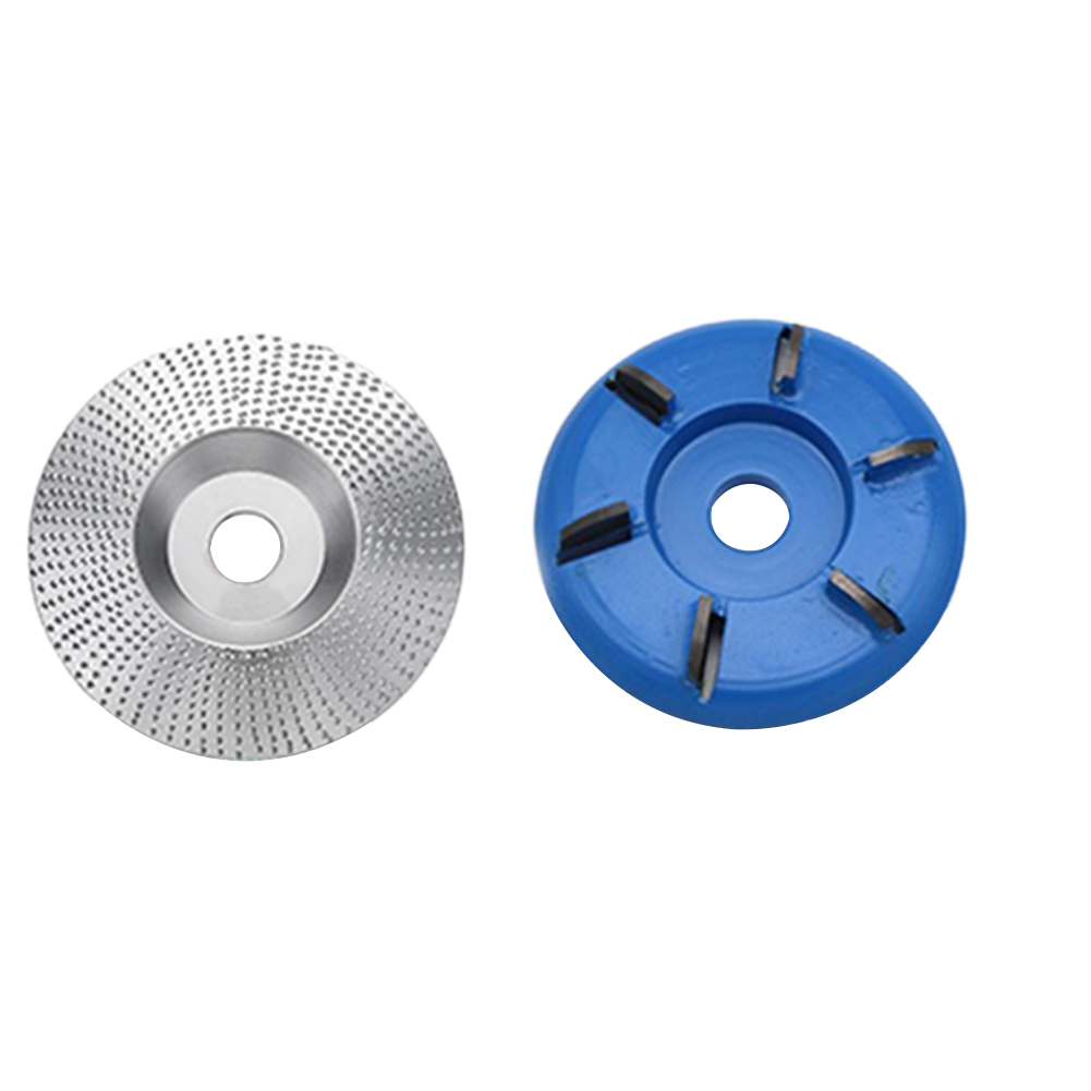 2pcs/set Six-tooth Miling Cutter Angle Grinder Disc Shaping Accessories Carving Sanding Woodworking Tool Portable Mini Abrasive