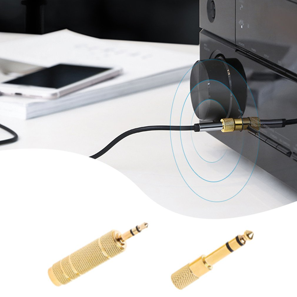 Mayitr 2 шт. 6,35 мм разъем стерео кабель золото 6,5 мм 1/4