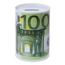Креативная копилка с металлическим цилиндром в виде доллара