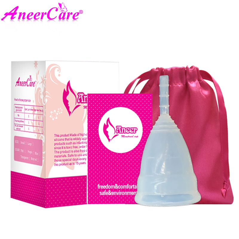 Image 3 - 50Pcs Retail Menstrual Cup For Women Feminine Hygiene Product Medical Grade Silicone Vagina Use S/L Size For Choose Anner Cup-in Feminine Hygiene Product from Beauty & Health
