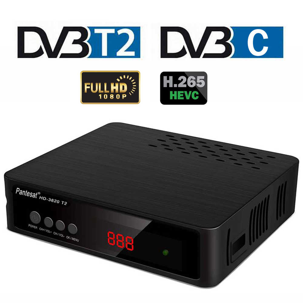 DVB-T2 DVB-C TV Tuner H.265 Digital TV Receiver Decoder TDT DVB T2 Set-top Box FTA Wifi Empfänger Volle HD IP TV Youtube VHF UHF