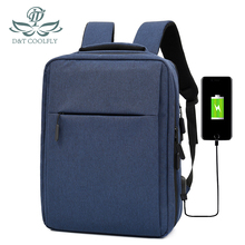 2020 New Fashion Laptop Backpack 15'6inch Waterproof USB Charge Large Capacity Hiking Travel Student School Polyester Zipper Bag