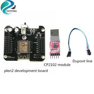 Plen2 placa de desenvolvimento + módulo cp2102 chip original usb para porta serial firmware baixar diy para arduino livre linha dupont