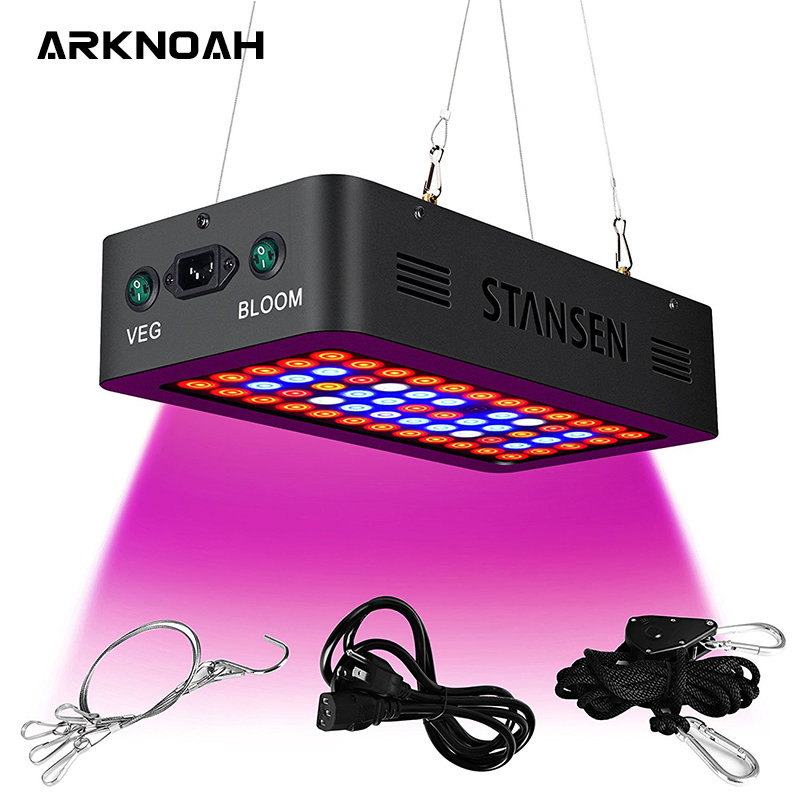 ARKNOAH 600W LED Grow Light Full Spectrum Dual Chip Veg Bloom Switch Grow Lamps For Indoor Plants Grow Tent