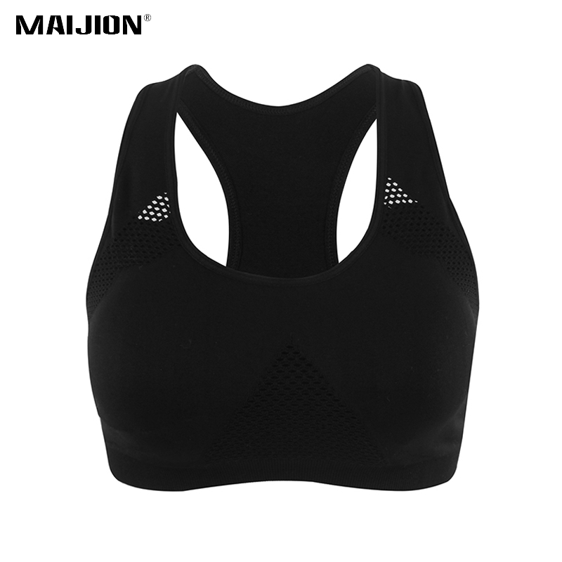 Plus Size <font><b>XXL</b></font> Absorb Sweat Yoga <font><b>Sports</b></font> <font><b>Bra</b></font> For Women Breathable Athletic Running Tops Vest Seamless Padded Fitness Underwear image