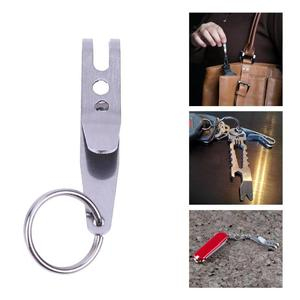 1 Mini Portable Pocket Bag Suspension Clip EDC Outdoor Camping Stainless Steel Multi Tools Multi-function Key Chain Clip Holder
