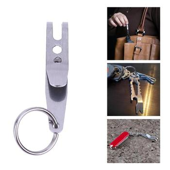 1 Mini Portable Pocket Bag Suspension Clip EDC Outdoor Camping Stainless Steel Multi Tools Multi-function Key Chain Clip Holder image