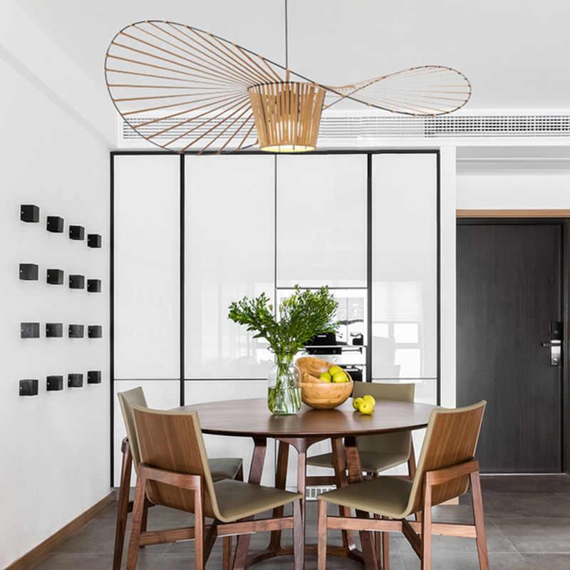 Нордическая лампа Vertigo подвесные светильники волнообразный винтажный свет столовая гостиная соломенная шляпа чердак подвесные лампы