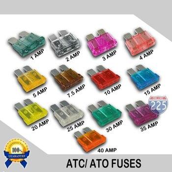 130 Uds Maxi fusible de hoja Kit de coche Auto surtido estándar del vehículo conjunto de fusibles 1A-40A