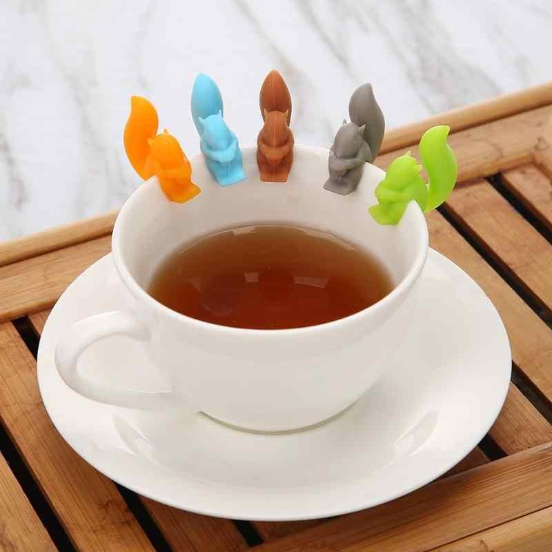5 Pcs סיליקון תה Infuser סנאי מכשיר תה תיק תליית חילזון ספל כוס קליפ תווית מסיבת אספקה לשנה חדשה