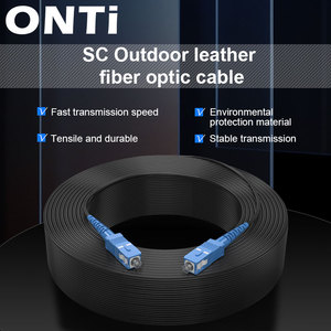 ONTi SC UPC to SC UPC Fiber Optic Drop Cable Single Mode Simplex 2.0mm Outdoor Fiber Optic Patch Cord Optical Patch Cable