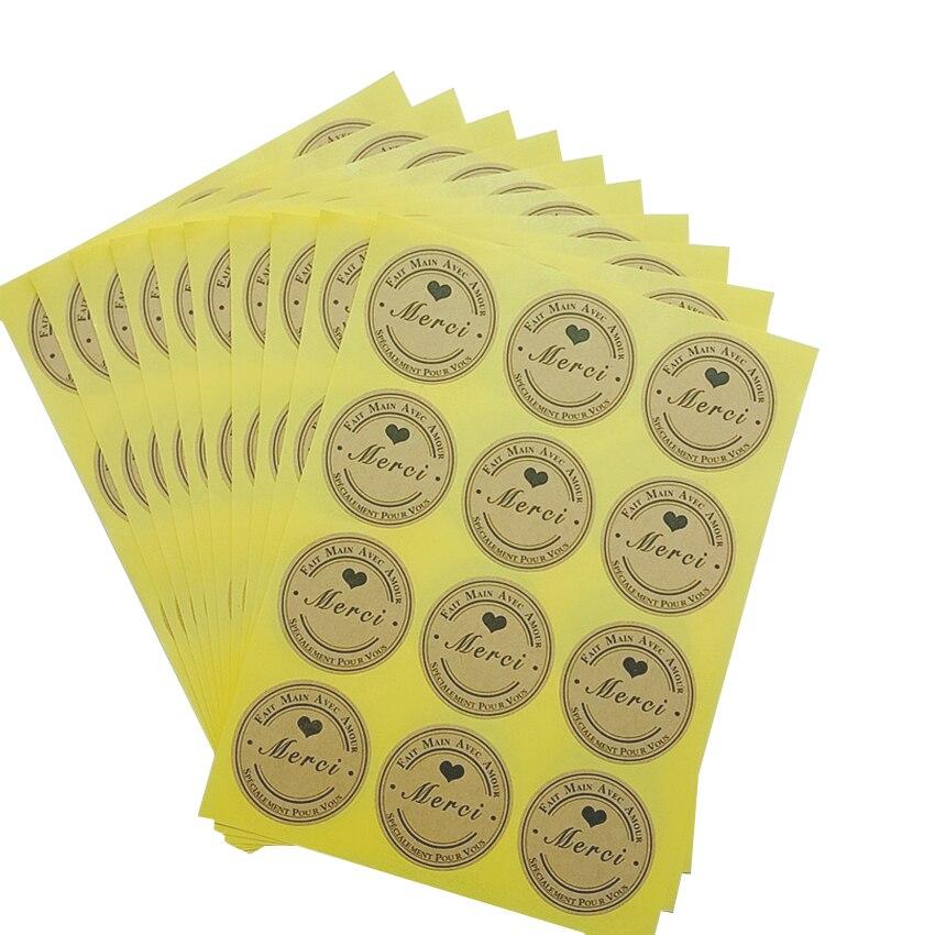 1200 pcs lote kawaii coracao preto merci redondo adesivo selo adesivos diy presentes pacote de produtos