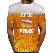 Uney beer футболка для мужчин американский размер рубашка с