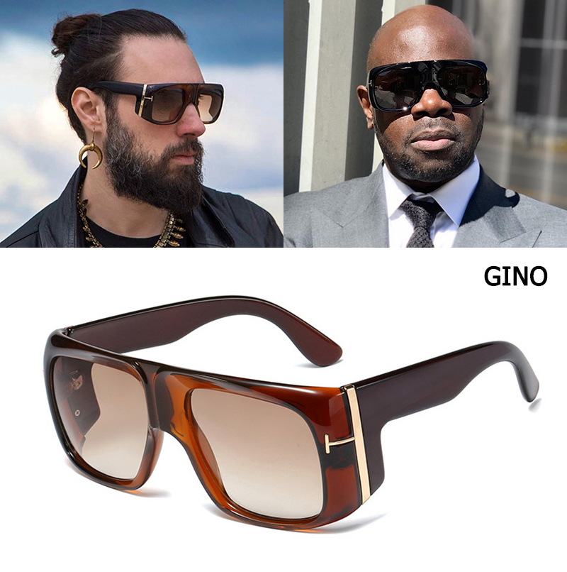 JackJad 2020 Fashion Oversized Shield GINO Style Gradient Sunglasses Cool Men <font><b>T</b></font> Metal Gradient Sun Glasses Oculos De Sol 95208 image