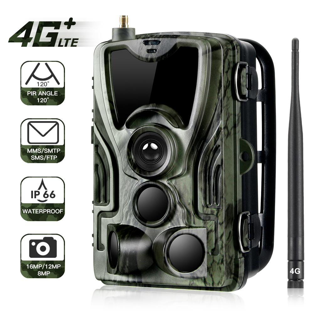 HC-801LTE 4g caça trail câmera 16mp 64