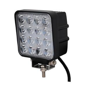 ECAHAYAKU 1pcs 48W 4.5 inch LED Work Light Flood Driving Lamp for Car Trucks Trailer SUV Offroads Boat 12V 24V 4X4 4WD Projector