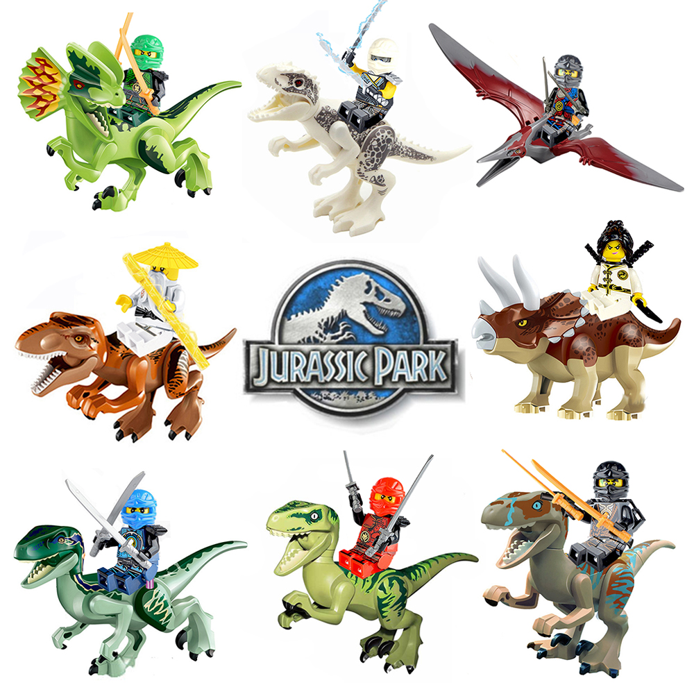 2019 Jurassic World Dinosaurs Ninjago Figures Bricks Building Puzzle Blocks Original Dinosaur Toys For Children Gifts