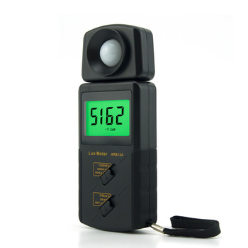 Smart Sensor High Precision Digital Lux Meter Portable LCD Screen Display AR813A Measuring Range 1~100.000 lux Electronic Meter