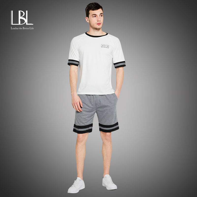 Summer Men Tshirt Sets New Tracksuits Casual Sportswear Clothes Men Tracksuit Male 2PC Tshirts + Shorts Sets Male Track Suits