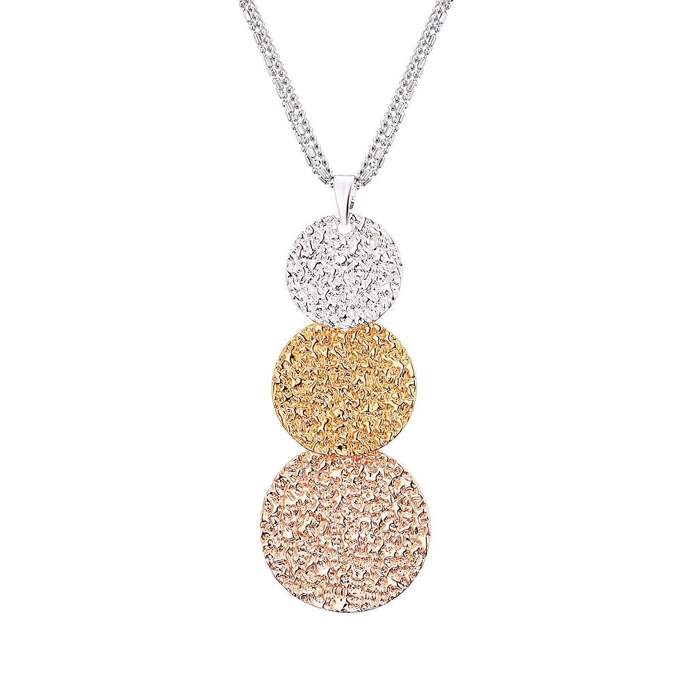 Señora cristal Rhinestone plata plateado larga cadena colgante collar regalo