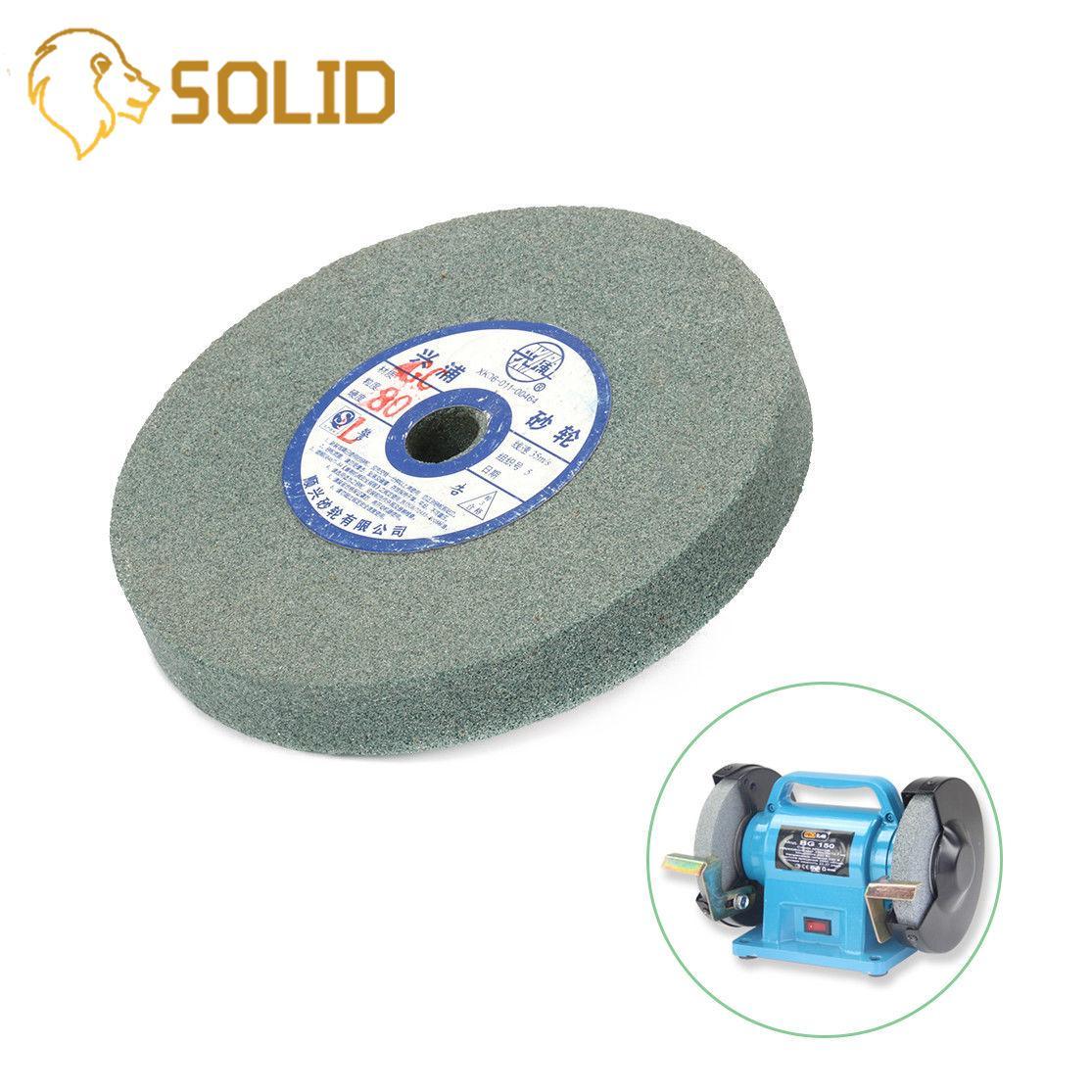 "5"" Ceramic Grinding Wheel Resistant Disc 125mmx12.7x16mm Abrasive Disc Polishing Metal Stone Wheel For Bench Grinders 80#"