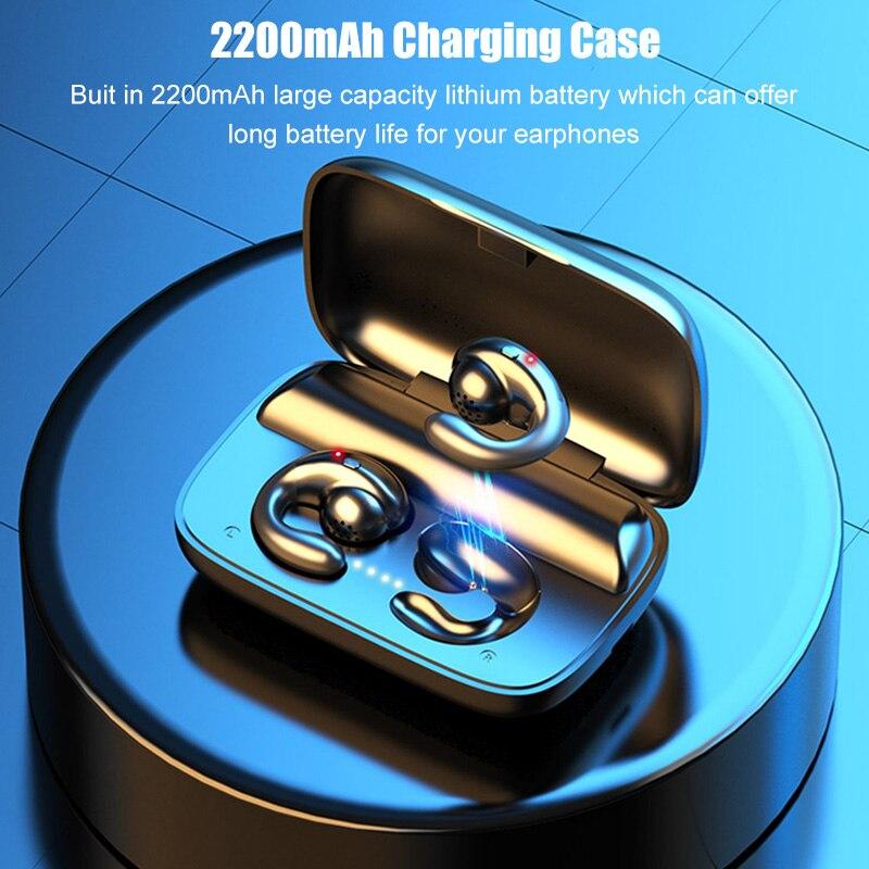 Bone Conduction TWS Bluetooth Earphones with 2200mAh Charging Case IPX5 Waterproof Sports Music Wireless Headphones Headsets|Bluetooth Earphones & Headphones|   - AliExpress
