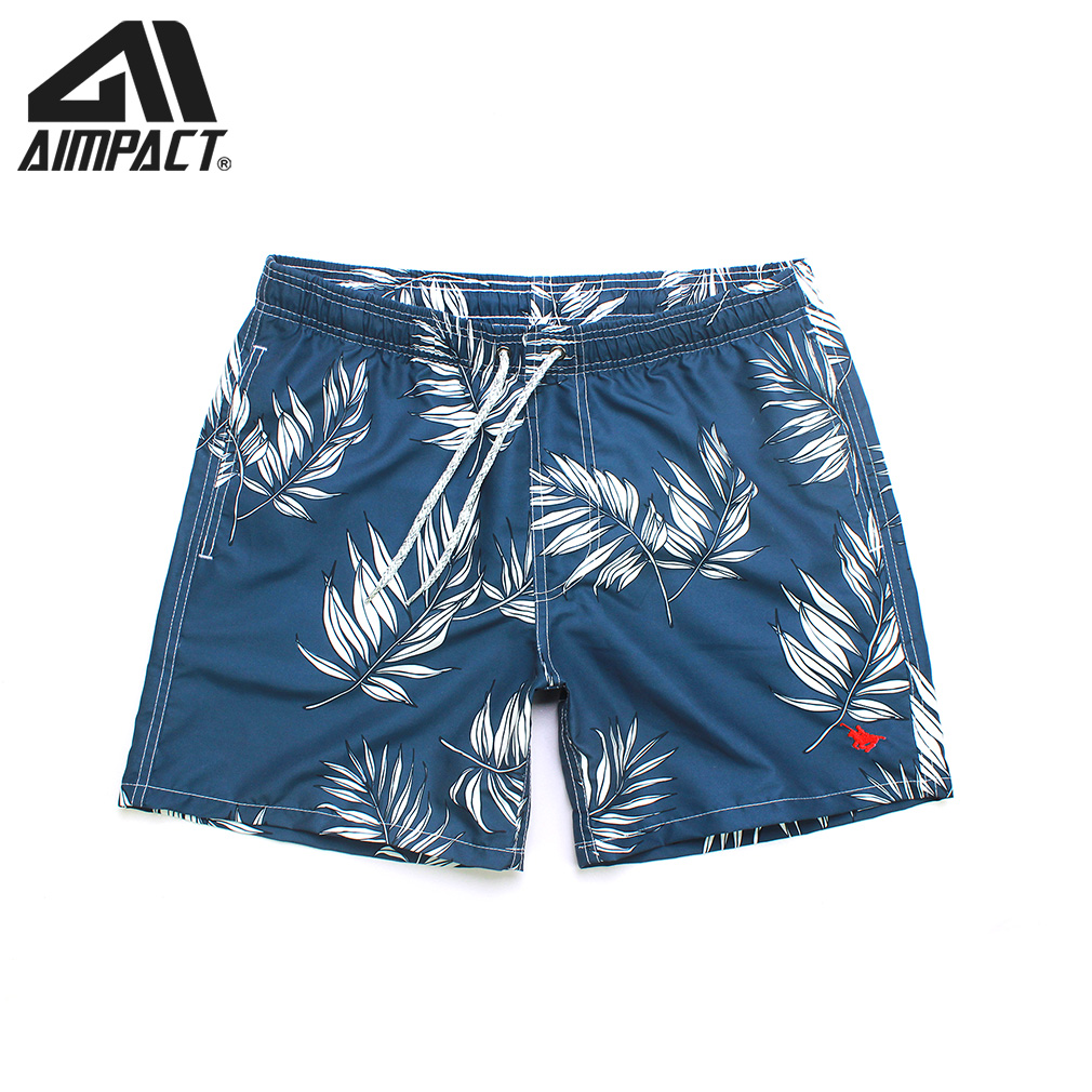 Men's Board Shorts Fast Dry Swim Shorts For Men Tropical Summer Holiday Beach Surf Swimming Short Trunks By Aimpact