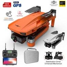 Kf102 gps drone 4k profissional 8k hd câmera gimbal de 2 eixos anti vibração fotografia sem escova dobrável quadcopter rc distância 1200m