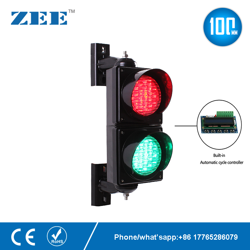 Automatic Cycle Running 4 Inches 100mm LED Traffic Light Lamp Red Green Traffic  Light Parking Lot Signal Entrance And Exit