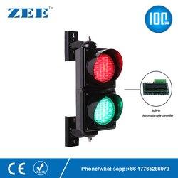 Luz LED de circulación automática de 4 pulgadas y 100mm luz de tráfico roja y verde señal de aparcamiento entrada y salida