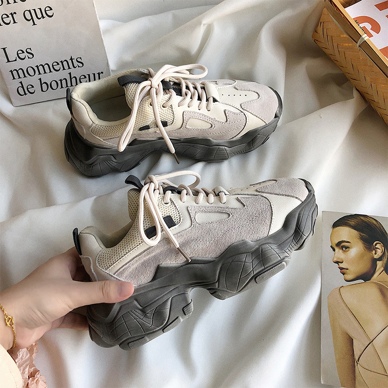 Women Sneakers Woman Comfort Vulcanized Female Chunky Designers Platform Trainers Shoes 2020 Ladies Autumn Casual Daddy Shoes