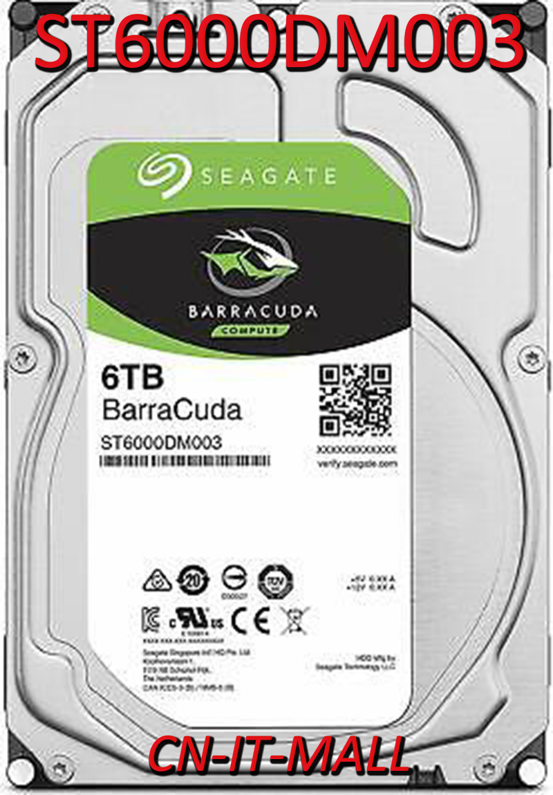 Seagate BarraCuda ST6000DM003 6TB 5400 RPM 256MB Cache SATA 6.0Gb/s 3.5
