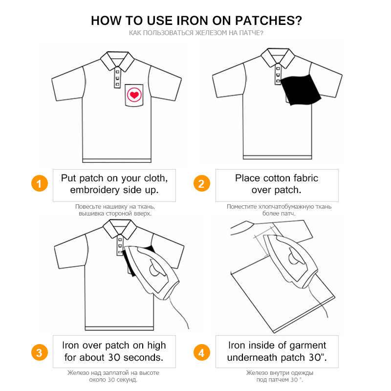 Pro Kitty Huruf Bordir Patch untuk Pakaian Lencana Stripes Di Topi Ransel To COCK UP Stiker Setrika Pada Kain Pakaian Appliques