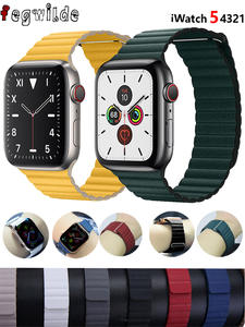 Loop-Strap Closure-Bracelet Watch-Band Correa Magnetic for Apple 5/4/3/2-1 42mm 44mm