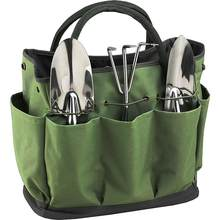 Bolsa organizadora de ferramentas, organizador de ferramentas multifuncional portátil para armazenamento de parede em oxford verde para casa e jardim