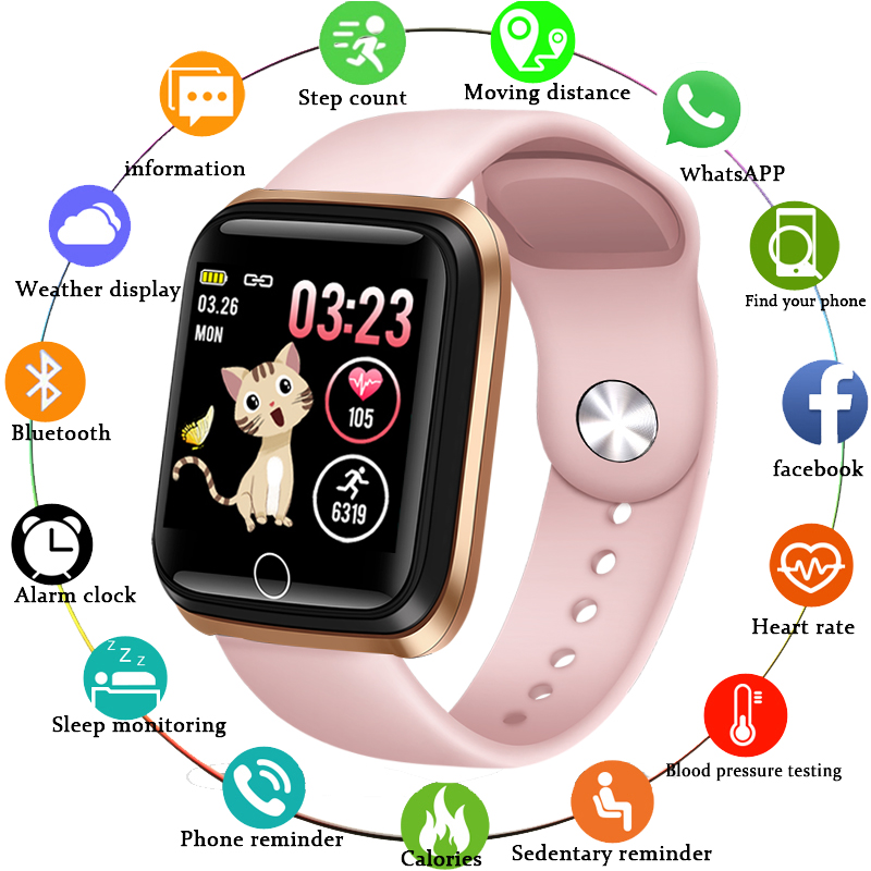 LIGE Smart Watch Women Sports Smart Bracelet IP67 Waterproof Watch Pedometer Heart Rate <font><b>Monitor</b></font> LED color screen for Android ios image