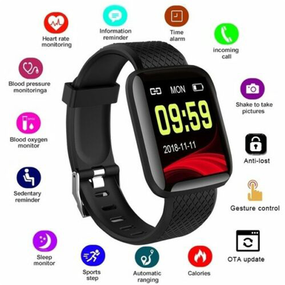 2019 New Fashoin Sports Fitness Smart Watch WristBand Waterproof Bluetooth Smart Bracelet Sport Wristwatch