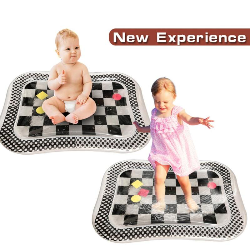 Newborn Baby Inflatable Patted Pad Enhance Baby Sense Touch Cute Shape Infant Water Ice Mat Cushion Toy With Inflator