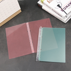 New A5/B5 Loose-leaf Cover Notebook Paging Separator Ring Binder File Folder Refillable Notepad Fashion Stationery Supplies