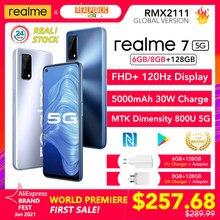 Realme-Cámara de 48MP realme 7 5G, versión Global, 6GB/8GB, 128GB, 120Hz, 5000mAh, 30W