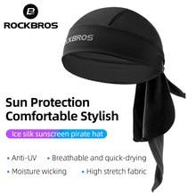 ROCKBROS-Bandana para ciclismo transpirable, elástica, para hombre y mujer, para correr al aire libre, senderismo, sombrero protector solar, diadema