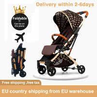 5,8 kg luz cochecito portátil plegable paraguas carro aluminio marco bebé cochecito viaje Pram avión recién nacido coche envío gratis