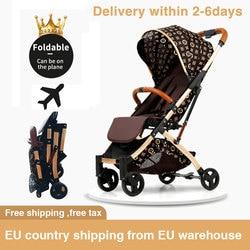 5.8kg light stroller Portable folding Umbrella Carriage aluminium Frame baby stroller Travel Pram plane newborn car free ship