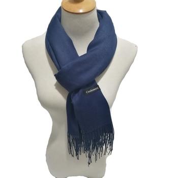 2020 Spring New Luxury Brand Men Cashmere Scarf Plain Solid Color Pashmina Shawls Scarves Man Plus Size 200cm
