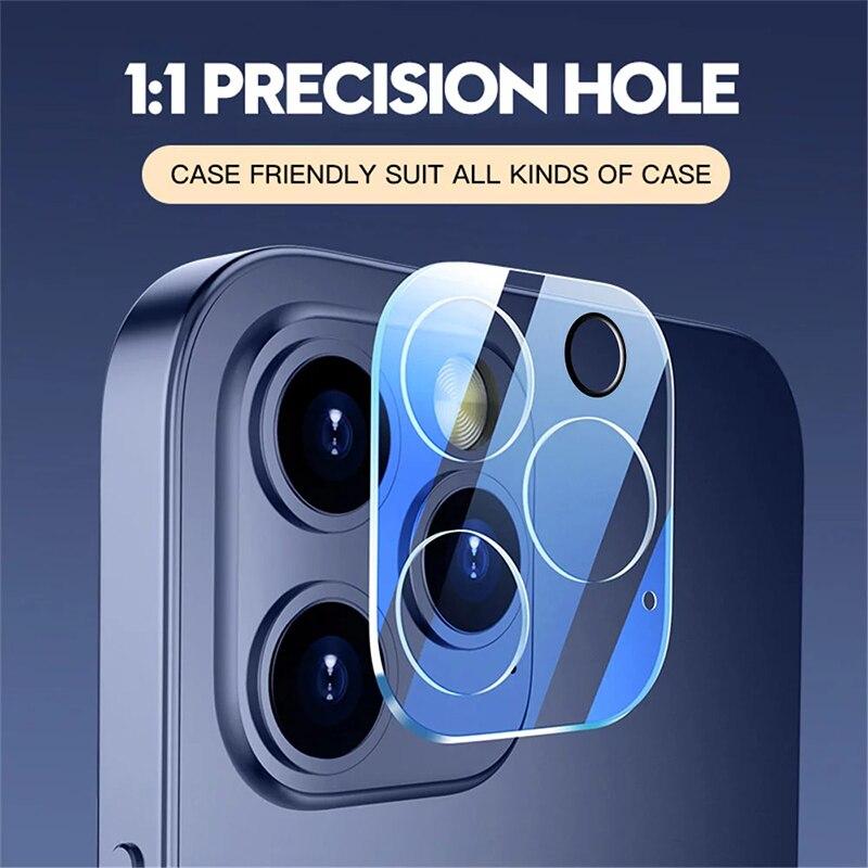 3PCS Camera Len Glass per iPhone 11 X XR 6 6S Plus SE pellicola protettiva per iPhone 12 Pro 7 8 XS Max 11 Pro Mini vetro protettivo 2