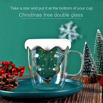 Do tworzenia podwójnych warstwy odporne na wysoką temperaturę szklane boże narodzenie drzewo gwiazda kubek wody w wysokiej temperaturze kubek szklany choinka gwiazda pragnąc kubek tanie i dobre opinie CN (pochodzenie) Szkło Other Ekologiczne Double-Layer Glass Christmas Tree Star Water Cup