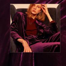 Белый waxberry фиолетовый Шелковый бархат материалы для одежды