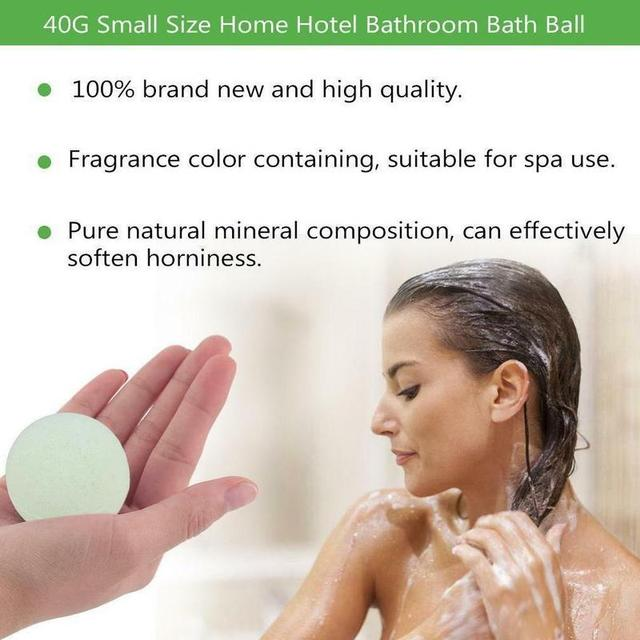Handmade Bath Salt Bombs Small Size Hotel Bathroom Bath Ball Bomb Aromatherapy Type Body Cleaner Gift Random Color 1