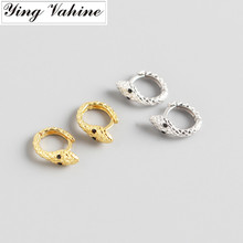 ying Vahine 100% 925 Sterling Silver Animal Snake Stud Earrings for Women