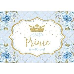 Image 3 - Allenjoy cemaat zemin küçük prenses prens çiçekler pembe 1st doğum günü bebek duş Photophone arka plan Photozone